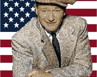 John Wayne Blanket Pattern