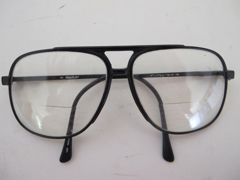 Aviator Eyeglasses Frame : Aviator eyeglasses Aviator Black Frame 1970 Aviator sunglasses