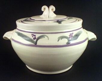 Hand painted ceramic casserole pottery casserole dish ceramic casserole baker pottery clay baking dish, ceramic baking dish pottery bake