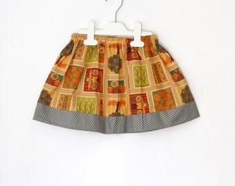 Autumn Girl's skirt, toddler skirt, harvest skirt, Fall fashion girl's skirt, sunflower girl's skirt