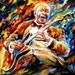 "Bb King — Blues Musician Portrait Oil Painting On Canvas By Leonid Afremov. Size: 30"" X 30"" Inches (75 cm x 75 cm)"
