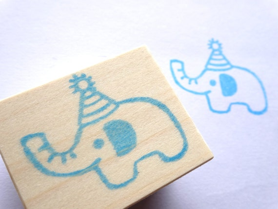 Baby Shower Stamps ~ Rubber stamp elephant baby shower by