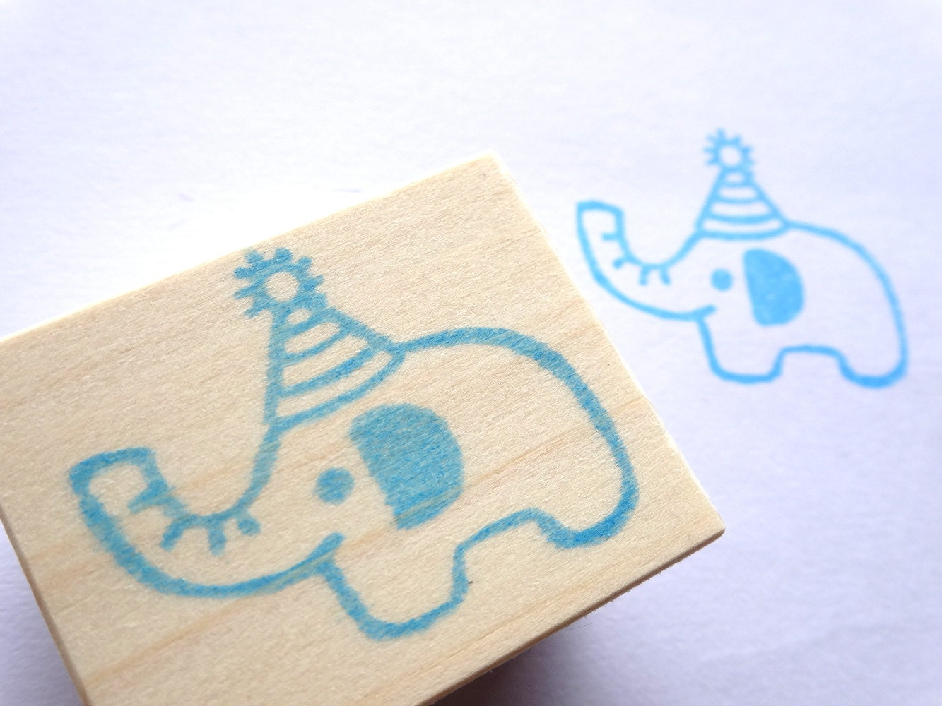 rubber stamp stamp elephant baby shower by japaneserubberstamps