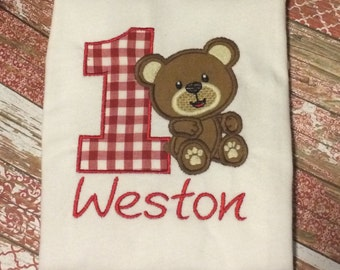 Teddy bear picnic birthday shirt!