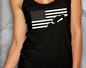 Jeep Wrangler Tank USA Flag