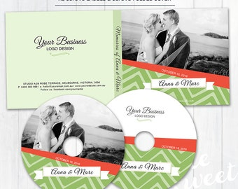 Cd DVD Disc Label - Photoshop Template for Photographers - (CDDVD04) - Instant DOWNLOAD