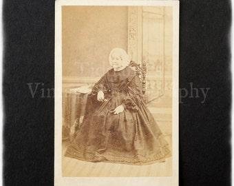 Carte de Visite CDV Photograph of an Old Lady 80th Year - W. R. Pridgeon Lynn