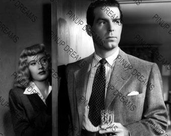 "Photo Wall Art Print of Barbara Stanwyck & Fred MacMurray Vintage Classic Movie Stars size A4 (11.7"" x 8.3"")"