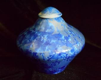 "Crystalline Glaze Porcelain Vase,Fine Art Pottery Vase, 7 1/2 "" X  7 1/2"", FREE SHIPPING"