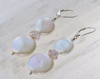 PP1- Charm of freshwater pearls with natural amethyst