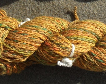 "Handspun yarn - ""Autumn leaves"", 110 g, 130 m 2 ply - Merino"