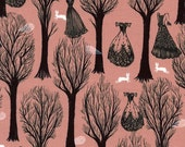 One Yard - 1 Yard of Haunted Forest Coral - SPELLBOUND by Sarah Watts - Cotton & Steel