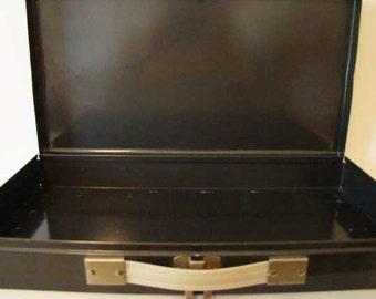 Metal box with handles, slide box, metal storage box, industrial decor