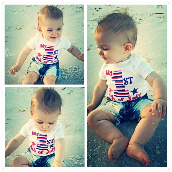 May The Fourth Be With You Baby Clothes: Patriotic Baby First 4th Of July Patriotic Shirt Baby Boy