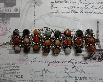 metal and stone bracelet
