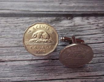 Canada 1962 Coin Cuff Links - Canada Coin Cuff Links