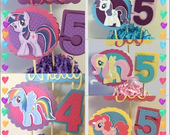 My Little Pony Inspired Group Centerpiece STICKS ONLY
