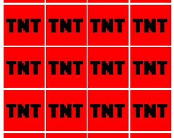 TNT Minecraft Labels Package
