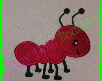Ant Fill and Applique Machine Embroidery Design 001