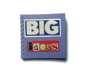 BIG IDEAS | Notebook | PURPLE | Motivational | Notepad | Gift Idea |   Blank Book | For Her | For Him |