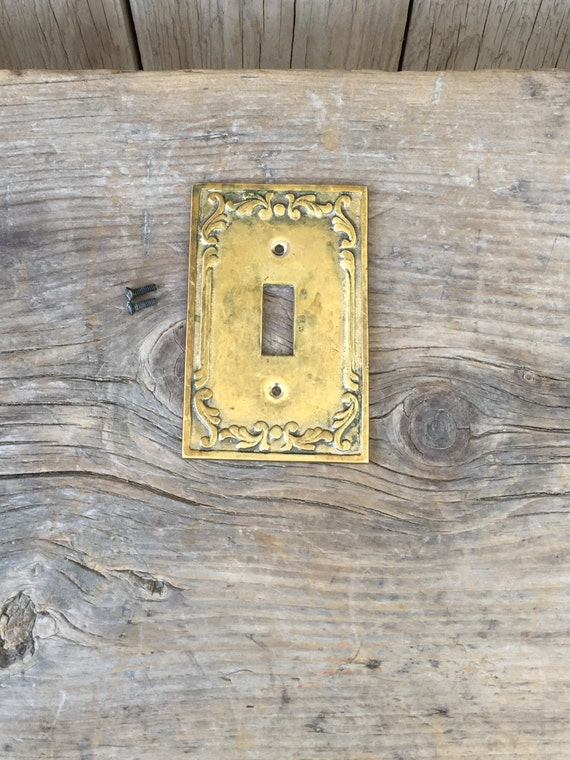 Vintage Metal Light Switch Cover Switchplate By Macandmarys