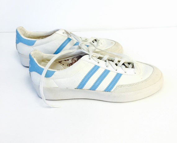 vintage 80s adidas billie jean king tennis shoes made in