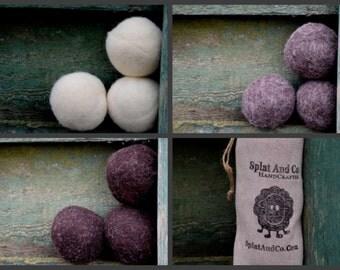 Felted Dryer Balls - Felted Wool - Natural Dryer Balls