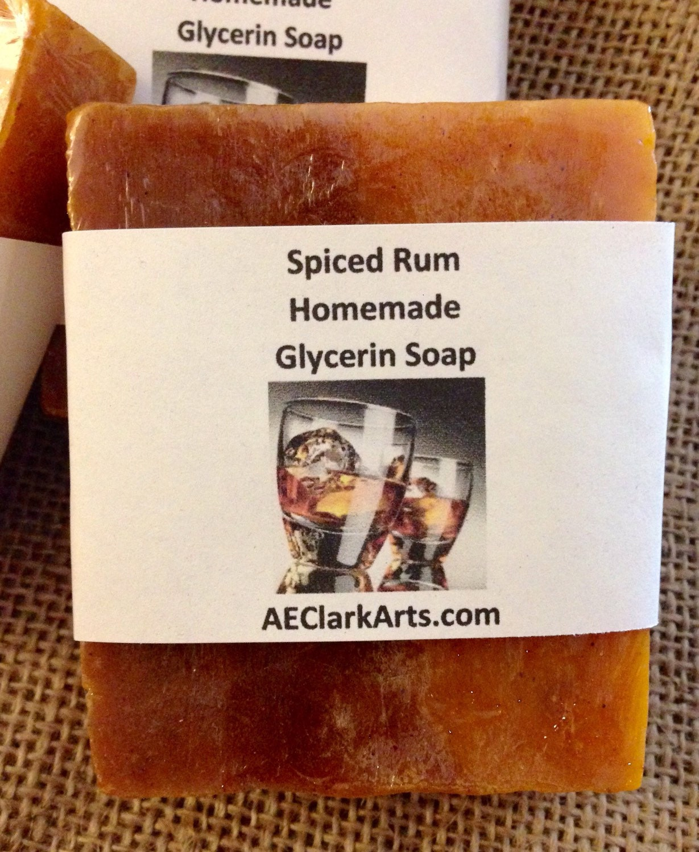 Spiced Rum Soap 3 PACK Glycerin Soap Homemade Vegan by AEClarkArts