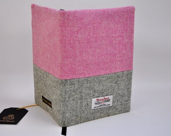 HARRIS TWEED fabric Notebook cover - Color Block (notebook included)