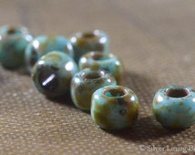 Rustic Dots  (100) - Czech Glass Bead - 6/0 TOHO Seed Bead
