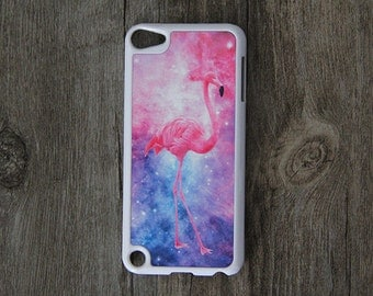 Nebula Flamingos iPod Touch 5 case and iPod Touch 4 Case,iTouch 5/4 Rubber Case