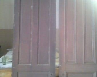 Vintage Oak Mansion Historical Door (2 Available) 108 x 30 (9 x 2.5)