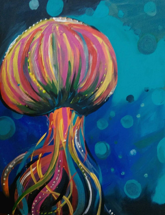 The gallery for --> Abstract Jellyfish Painting