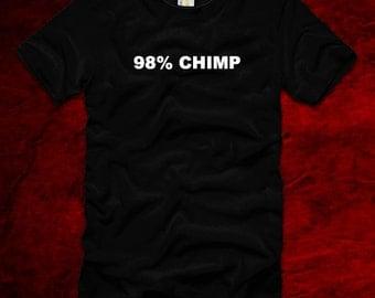 98% chimp funny t-shirt