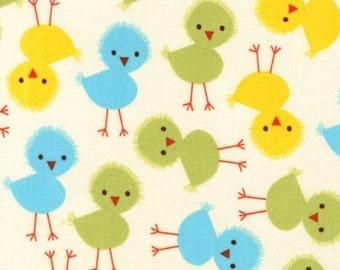 Half metre Robert Kaufman - Urban Zoologie Cream Chick patchwork quilting fabric