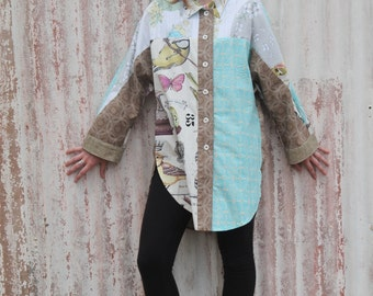 Eclectic mixed cotton shirt