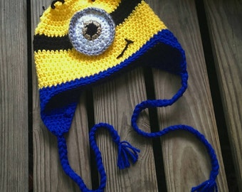 Minion Hat - sized to fit 3/4/5T