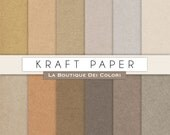 Kraft digital papers, Cardboard backgrounds, brown scrapbook paper printables. Instant Download for Personal and Commercial Use