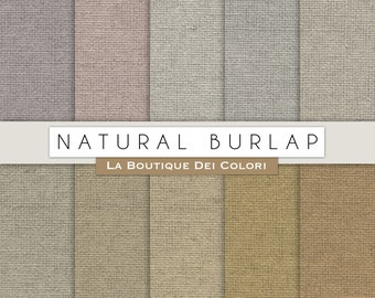Solid Natural Burlap Fabric, Burlap paper digital,Textured Digital Paper, Instant Download Personal Commercial Use