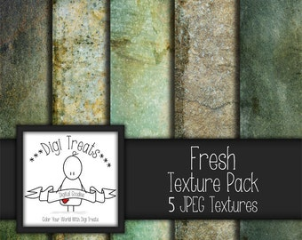 "5 Digital Textures, Fresh Textures, JPEG, Photography Textures, Scrapbook Paper, Backgrounds, 12""x12"" *Instant Download*"