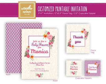 Printable Customized Invitation - Baby Shower