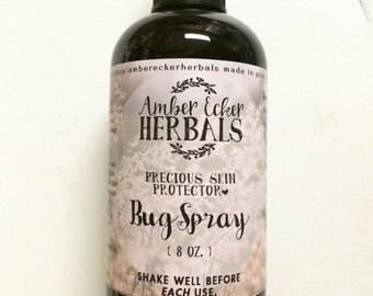 Bug Spray - Precious Skin Protector {All Natural} - 8 oz. blue bottle