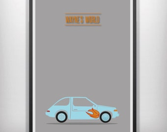 Waynes world minimal minimalist movie poster