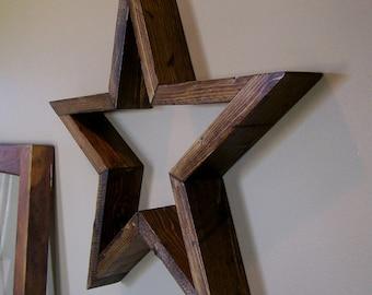 "16"" Rustic Wood Star"