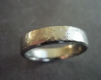 Big size Z 6 1/2 textured titanium ring