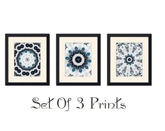 Giclee print, Blue, black,ornate art,wall art,fine art print,ornate design,shabby chic art,wall art decor,dark blue print,abstract print,