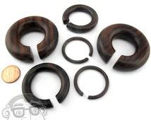 "Sono Wood Hoop Plugs Sizes / Gauges (8G - 5/8"") - New!"