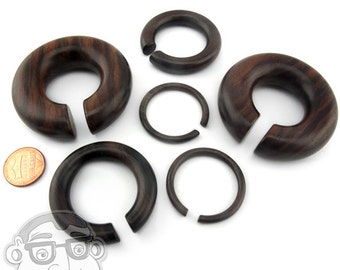 "Sono Wood Hoop Plugs Sizes / Gauges (8G - 3/4"") - New!"