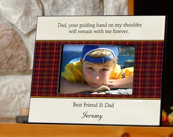 Personalized Father's Day Frame - Best Dad Frame - Gifts for Dad - GC474