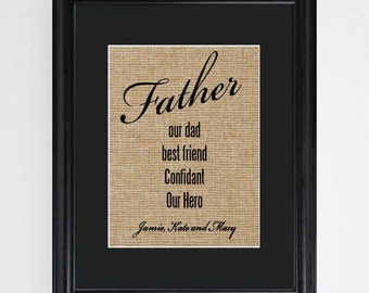 Personalized Framed Father's Poem - Gifts for Dad - Gifts for Him - Father's Day Gifts - GC1290